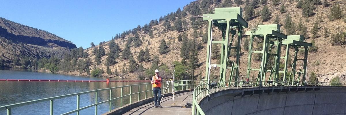 Engineer on dam