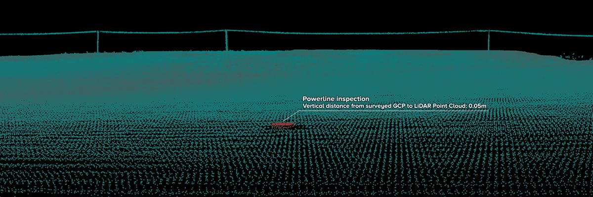 Point cloud analyzed with laser scanning software illustrating high level of accuracy.