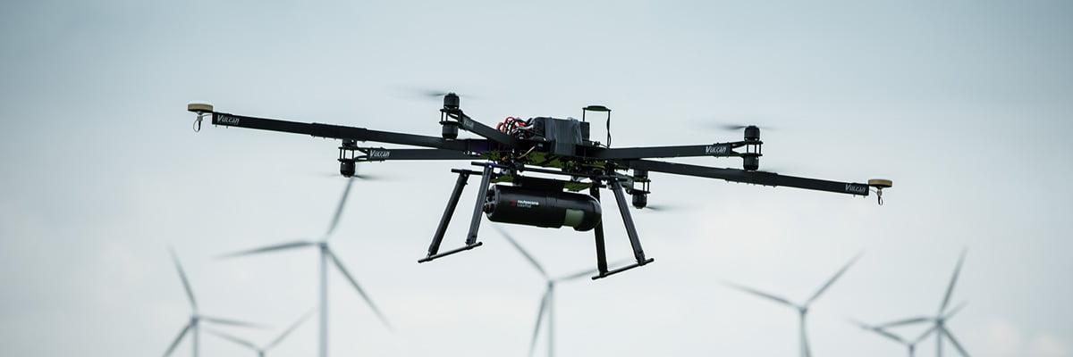 LidarPod underneath a UAV
