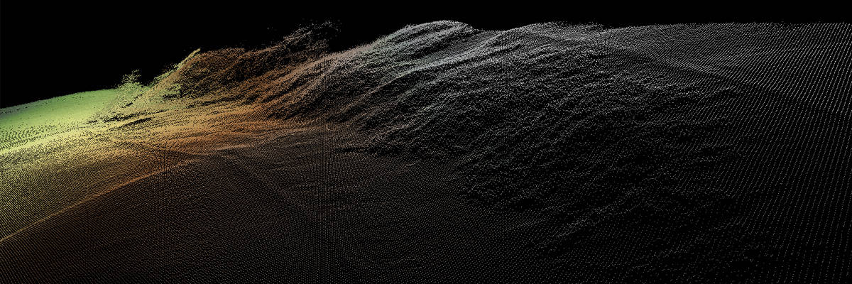 Point cloud of a undulating landscape