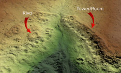 Final bare earth terrain model of Sand Canyon which revealed previously undocumented structures