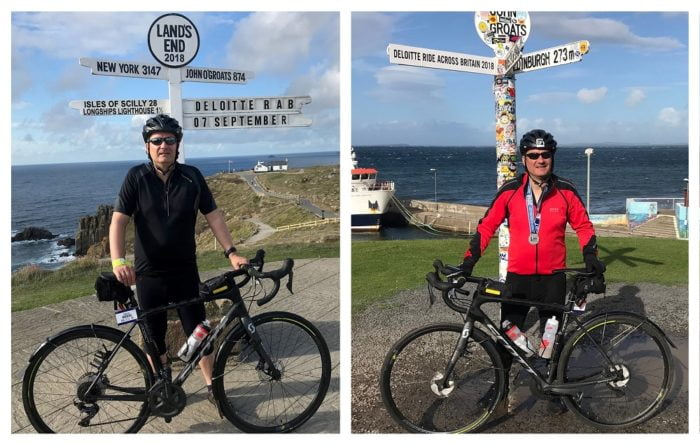 Jason Rogers cycle from Land's End to John O'Groats 2018
