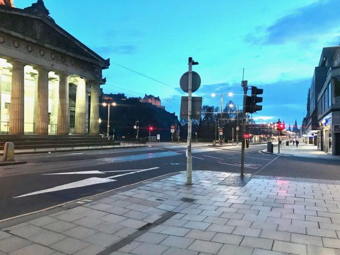 Empty Princes Street Edinburgh