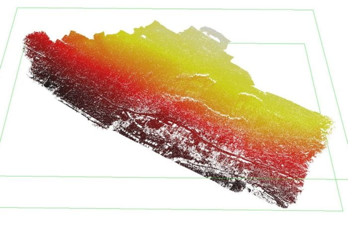 Ystalyfera LiDAR Digital Terrain Model with vegetation taken away