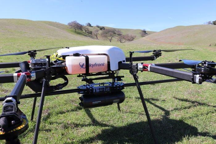 Routescene UAV LiDAR system mounted onto Skyfront Perimeter 8 drone