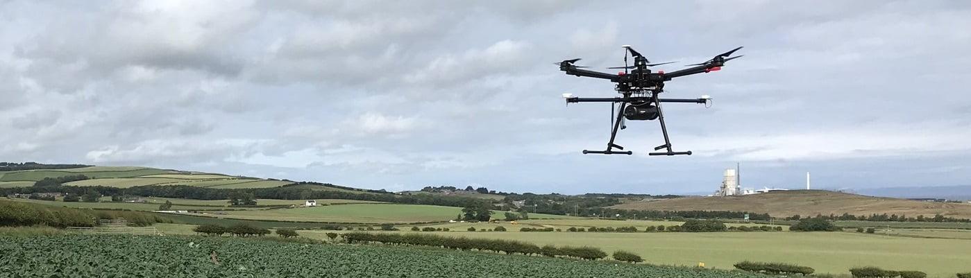 Routescene UAV LiDAR system flying