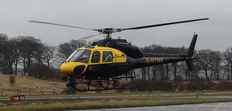 Eurocopter AS350 with Routescene LidarPod