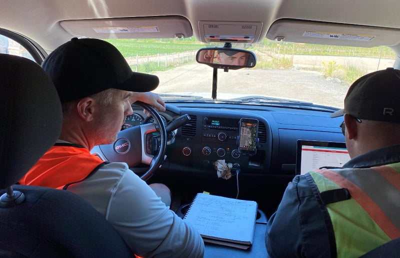 Monitoring live the capture of LiDAR data from the comfort of the air conditioned truck