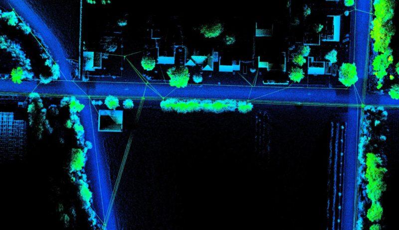 Oliver transmission line LiDAR data classified