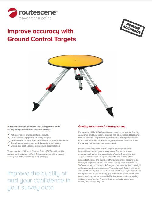 Routescene Ground Control Targets brochure