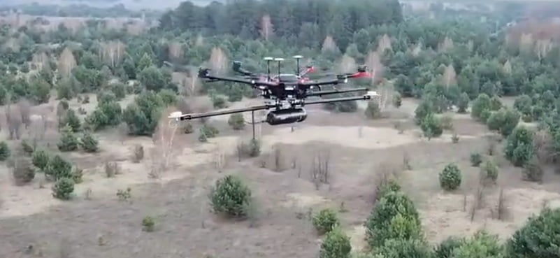 Routescene LidarPod flying over Chernobyl forests