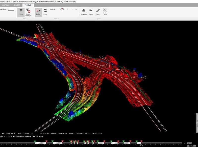 Routesscene software large datasets