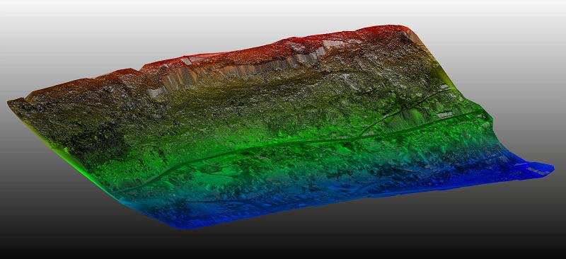 Ystalyfera Landslide UAV LiDAR Digital Terrain Model