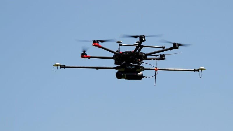 Routescene UAV LiDAR system at CHEESEHEAD project