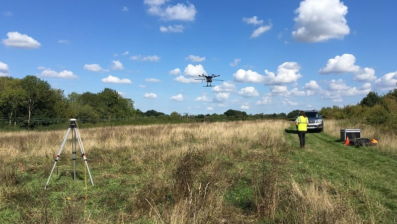 Routescene Survey team on-site capturing the LiDAR data from a drone